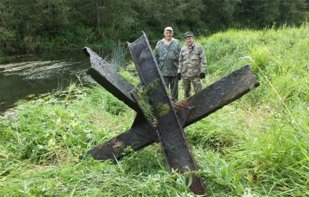 Противотанковый ёж пополнил экспонаты музея Богородицкое поле