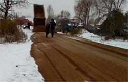 По старой традиции дороги в Вязьме делают зимой