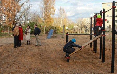 Администрация отчиталась об открытии спортивной площадки на Юбилейной