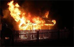 Пожар на улице Орджоникидзе
