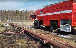 При пожаре на АЗС станции Семлево погиб рабочий