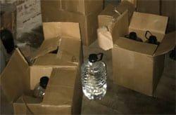 В Вязьме обнаружен склад подпольного алкоголя. Бутлегеры задержаны