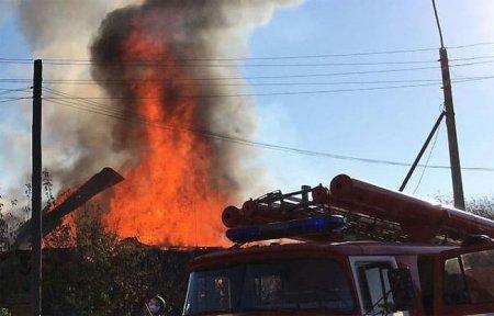На ул. 2-я Бозня сгорел дом