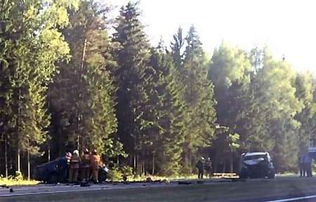 Тройное ДТП произошло на 227 км трассы М-1. Есть пострадавший