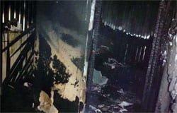 Гараж и бытовка сгорели в Вязьме и Вяземском районе