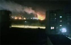 Пожар в микрорайоне Московский
