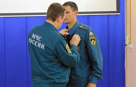 Пожарный из Вязьмы награжден медалью «За отвагу на пожаре»