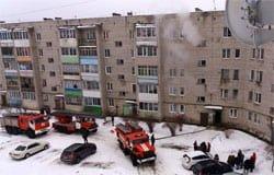 На Московской горела квартира