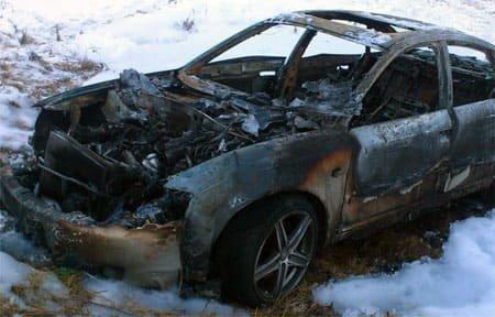 На Ползунова горела Audi A6