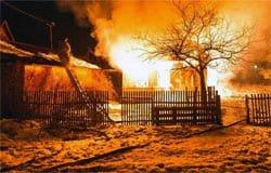 В деревне Клоково Вяземского района сгорел дом