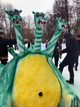 В Вязьме прошел конкурс снежных скульптур