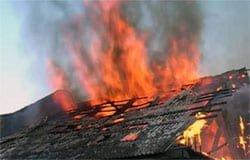 В д. Богородицкое сгорел жилой дом