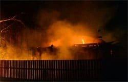 В Вязьме на ул. 1го Марта горел дом