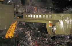 На Ямской сгорел лесовоз