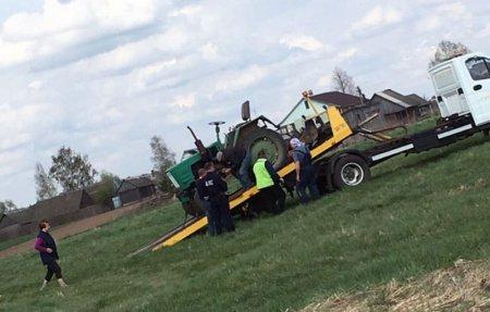 В Вязьме сотрудники ДПС конфисковали трактор у пенсионера