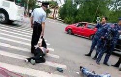 На повороте к МЖК произошло убийство: фото, видео