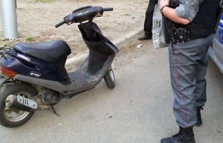 В Вязьме поймали пьяного скутериста