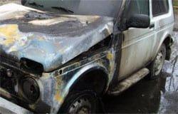 28 июня на ул. Комсомольской сгорел автомобиль Нива