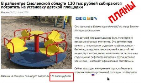 Хозяйский подход: детская площадка за 120 тыс. поражает воображение