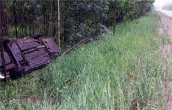 В Вяземском районе в ДТП пострадал пьяный водитель и его 16 летний пассажир