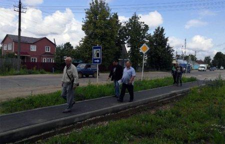 В Вязьме начали приемку спецтротуаров