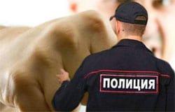 Гость из Сычевки применил насилие по отношению к полицейскому