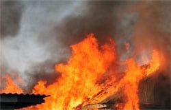 В д. Гредякино Вяземского района сгорел дом