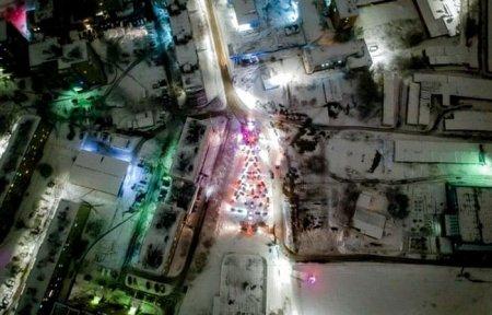 В Вязьме на стадионе Салют прошел новогодний флешмоб