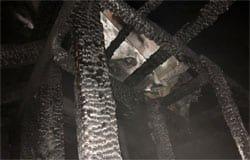На улице Буденного горел дом. Пожар уничтожил кровлю