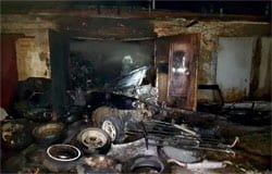 В Вязьме на ул. Воинов Интернационалистов сгорел гараж