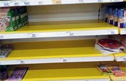 Массовый психоз: в Вязьме начали пустеть полки магазинов