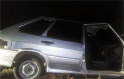 В Вяземском районе угнали автомобиль и бросили в кювете