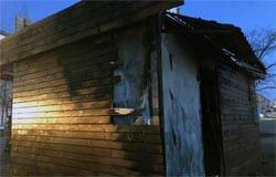 В Вязьме сгорел торговый павильон