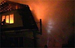 Вчера в Вязьме сгорела дача
