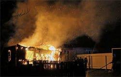 На Вязьма Брянской сгорел дом, имеется пострадавший
