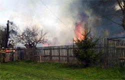 Гроза стала причиной пожара в Вяземском районе