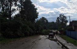 Прошедший через Вязьму ураган оставил без света целые районы