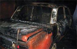 На ул. Строителей сгорела машина