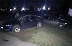 На Юбилейной Volkswagen протаранил припаркованную Калину