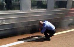 22 августа на ходу задымилась электричка Смоленск-Вязьма