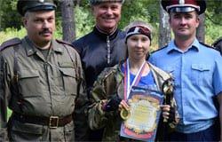 Вяземские казаки рубят шашкой лучше всех