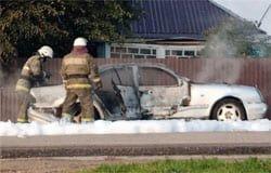 11 сентября на Докучаева сгорел Мерседес