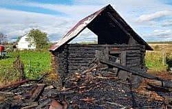 В Семлево сгорел дом и сарай