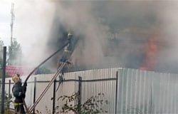 На ул. Абросимова горела баня