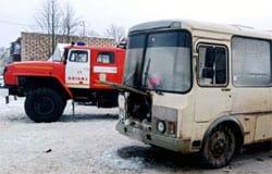 В Кайдаково загорелся пассажирский автобус