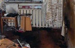 На Кронштадтской чуть не сгорел мужчина
