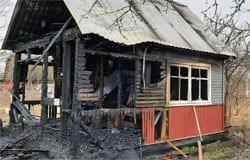 В СНТ Энтузиаст сгорела дача