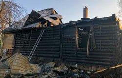В деревне Каменная Гора сгорел дом