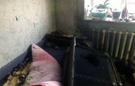 В квартире на Докучаева горел диван