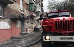На ул. Бауманской горела квартира